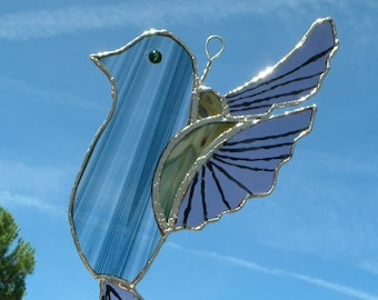 Bird stained glass tiffany - to hang