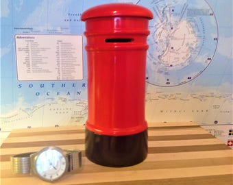 Childrens Red Money Box
