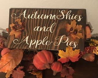 Autumn skies fall sign