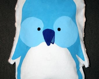 Small heating pad-Blue Penguin - OOAK