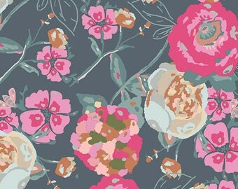 NEW Art Gallery Fabric - Bachelorette Fusion Garden Rocket - Bari J Fabric - Lilly Belle Garden Rocket - Fall Floral AGF Fabric by the Yard