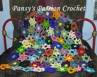 Hand Crocheted Wildflower blanket