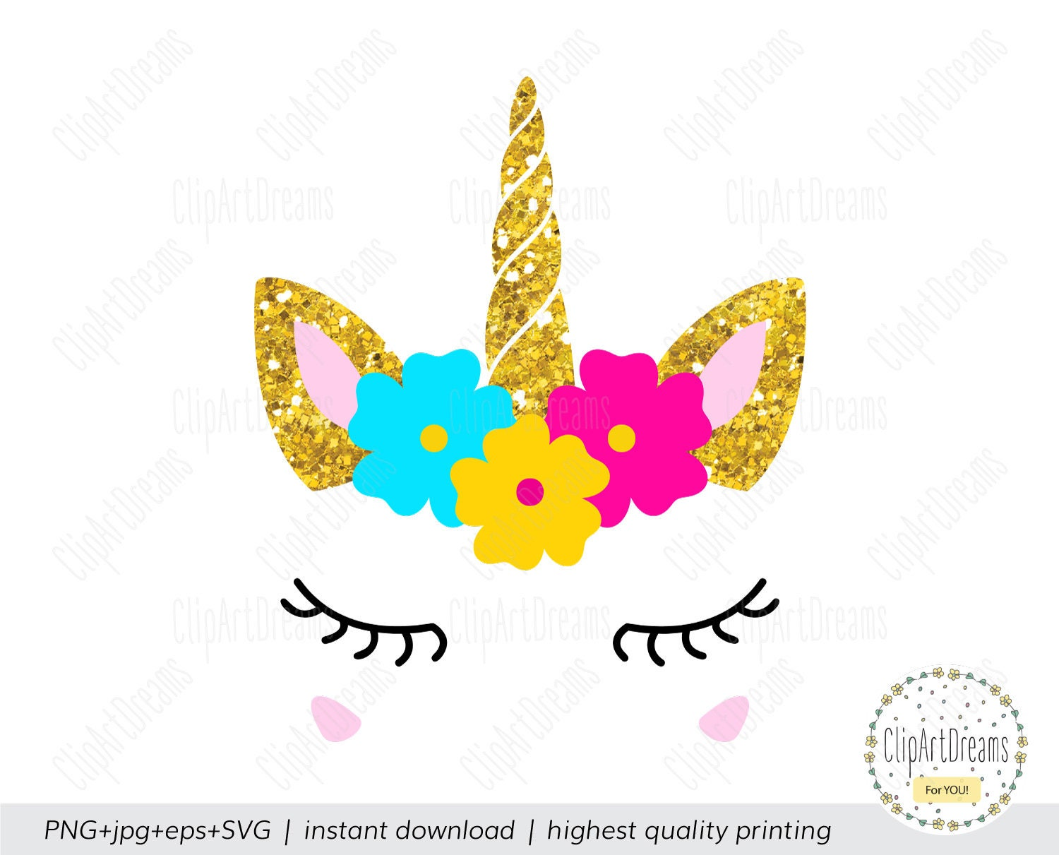 Unicorn Horn And Ears Silhouette Pictures to Pin on