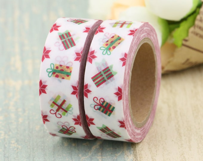 Washi Tape - Christmas Washi Tape - Christmas Present washi Tape - Paper Tape - Planner Washi Tape - Washi - Decorative Tape - Deco Tape