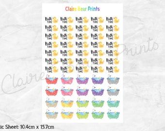 KIDS BATH Planner Stickers - Classic sheet