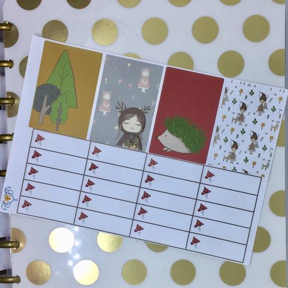 Woodland forest happy planner weekly sticker kit woodland for Happy planner accessories