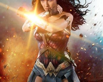 Wonder Woman  Movie 2017 movie poster 11x17