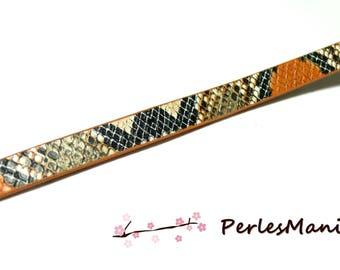 60cm cord flat 10mm Imitation snake Orange and black H508