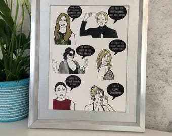 New Yorkers- Real Housewives of New York inspired Mini Print