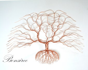 NEW Luxury wedding gift, Metal wall decoration, sculpture, Maple copper tree 24''x 18''