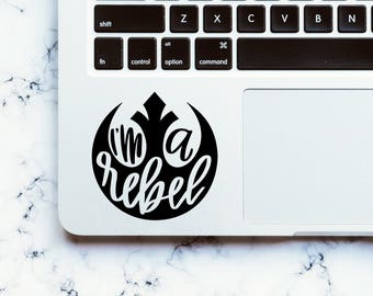 Hand Lettered Rebel Alliance Sticker, Star Wars Rebel Sticker, Star Wars Rebel Decal