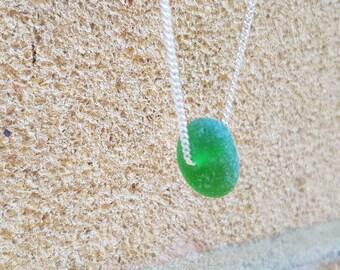 Green sea glass, Sea glass, sea glass necklace, Seaglass jewelry, sea glass, uk sea glass, beach glass jewelry, beach glass, round sea glass