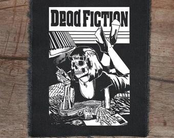 Dead Fiction • punk patch • back patches • punk fashion • punk clothing • fabric punk aufnäher • custom patches • punk •  sew on patches
