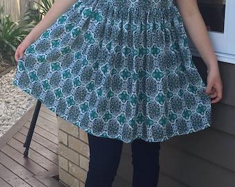 Turquoise wish dress size 8-10 , modest dress, maternity dress