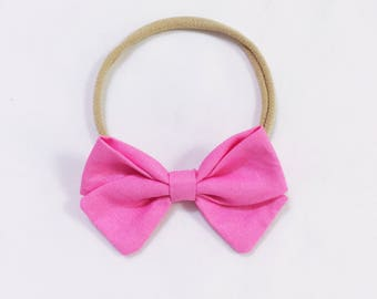 Barbie pink bow headband