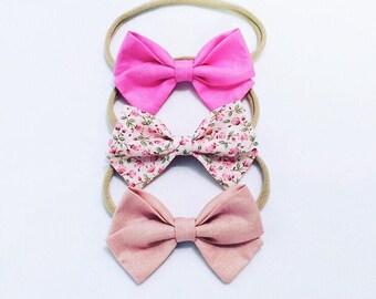Girls night in trio bow headband set