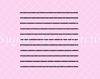 Thin lines stripes stencil NB700181