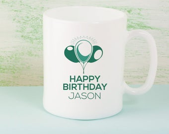 Wonderful Happy Birthday Personalized Mug With Name Printed On It