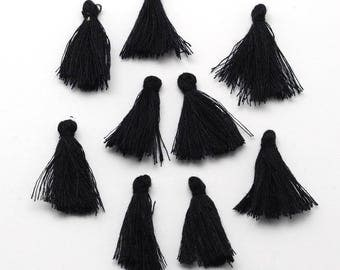 Fringe / tassels black 25-30mm