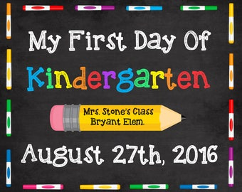 First Day of School sign, first day of school printable, 1st day of school first day of school chalkboard, preschool, first day sign