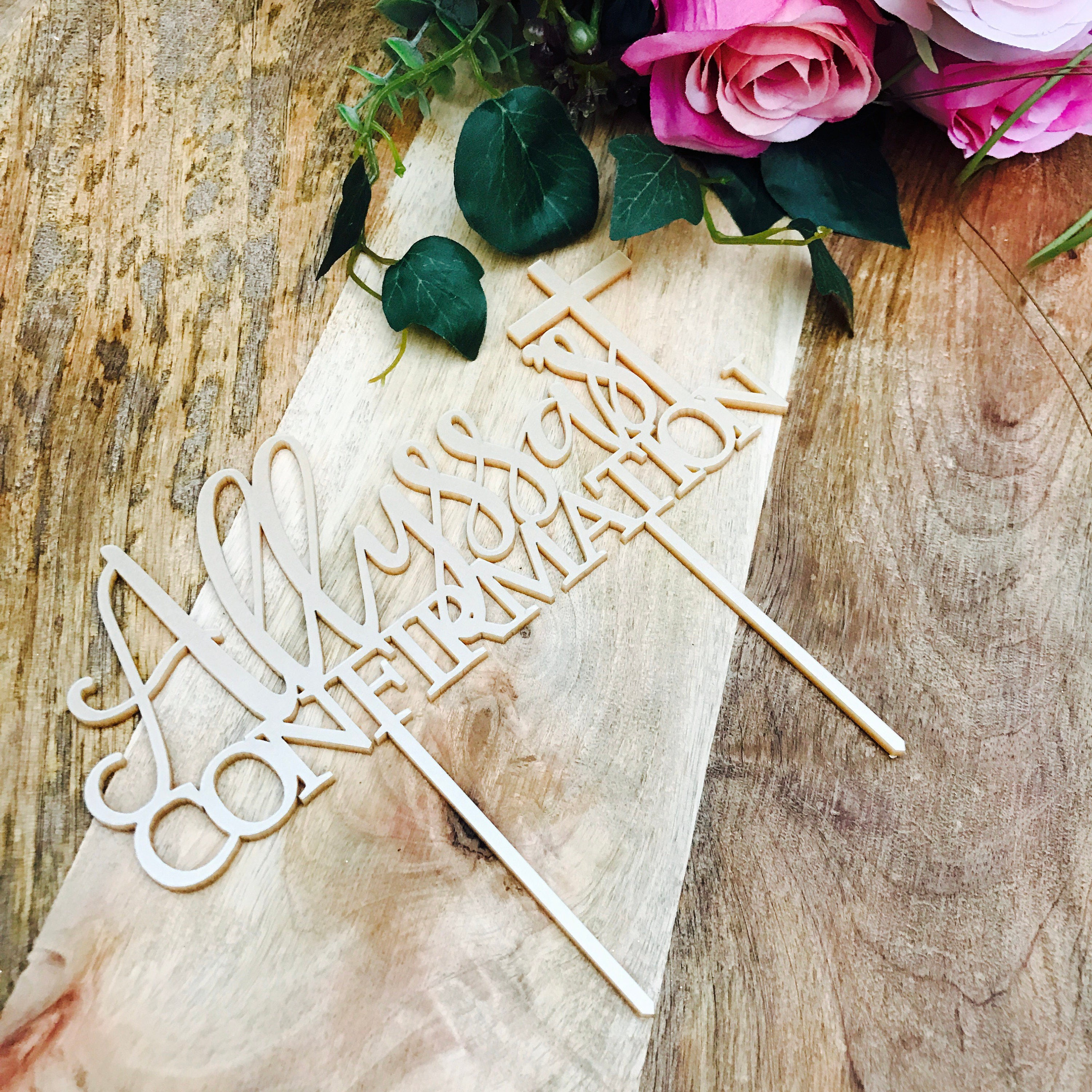 Confirmation Religious Cake Toppers