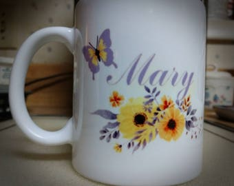 Personalized coffee mug,  custom made coffee mug