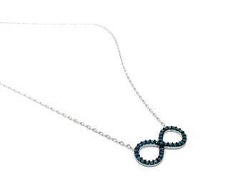 Women's Jewellery Delicate 925 sterling silver Infinity Pendant Necklace. FREE Luxurious GIFT BOX, Infinity symbol. Birthday Gifts for Women