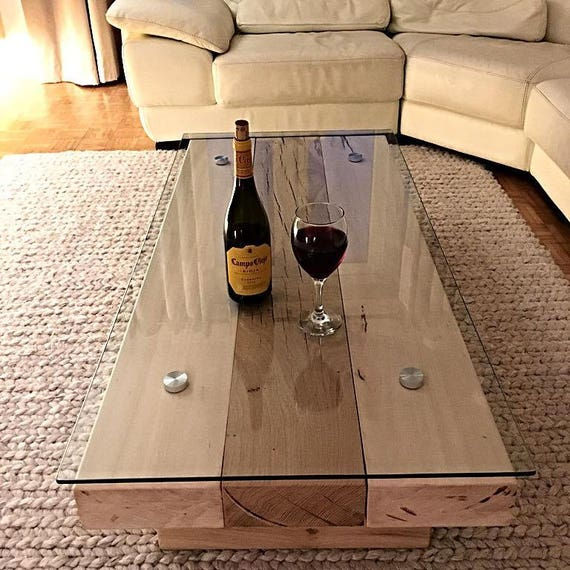 Glass Topped Sleeper Coffee Table Oak Coffee Table Coffee