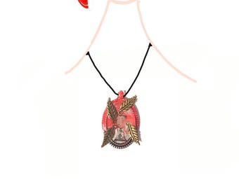 I want wings.  Hand-decorated pendant.