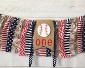 Baseball birthday Banner, baseball Highchair banner, birthday, Rookie of the Year, baseball Baby Shower, Cake Smash, Backdrop, first boy one
