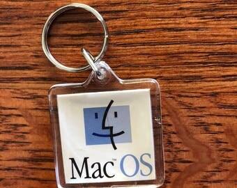 Apple Computer Mac OS Vintage Keychain