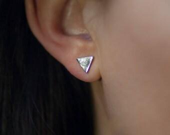 Stud | Earring | Silver | Minimalistic | Triangle