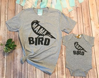 Mommy and Me Shirts, Matching Shirts, Mom and Me Shirts, Mama Bird and Baby Bird Shirts, Mama Bird Shirt, Family Shirts, Baby Shower Gift