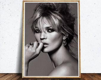 Kate Moss Supreme • Kate Moss Poster Supreme Poster Kate Moss Fashion Poster Digital Download Printable Art Supreme Print Fashion Wall Art
