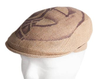 """Flat Cap """"Café Grappa"""" - subject """"Agricola"""" - from coffee bag - Limited Edition (size: 61 cm)"""