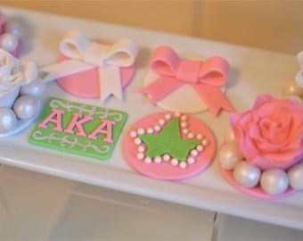 Sorority Cupcake Toppers