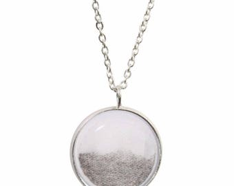 Teabag Pendant and Silver Plated Necklace
