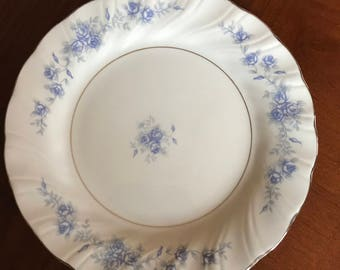"LYNNS FINE CHINA Bread & Butter /Desert/Salad Plate* With Blue Flowers* 7.5"" D"