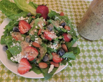 Poppy Seed and Sunshine Vinaigrette and More, downloadable PDF or JPEG Eating Cleaner salad dressing recipe file