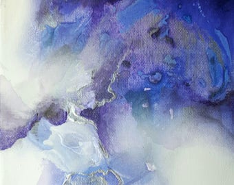 Small abstract purple painting