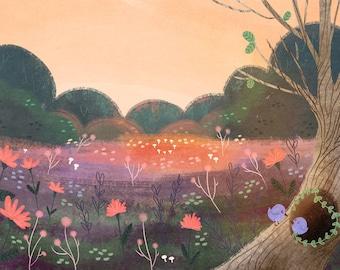 Bird Sunset Print