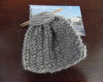 1 mini grey knit measuring 7 cm for Dollhouse