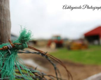 Western Photography, Barbed Wire, Country, Ranch Decor, Barbed Wire Photography