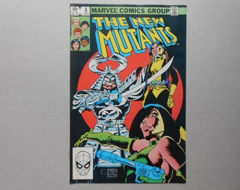 New Mutants Vol 1 #5; Mirage; Cannonball; Sunspot; Xavier; Cerebro;  Silver Samurai; Viper; New Mutants movie; High Grade!