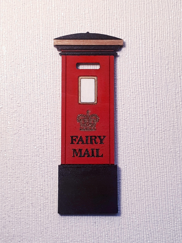 Fairy Post Box Wooden Fairy Door Accessories For Fairy Door Red