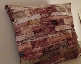 "printed fabric Cushion cover ""Board"""