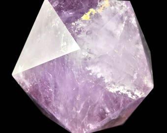 634 ct Icosahedron D20 Amethyst Crystal Sacred Geometry Platonic Solids I18