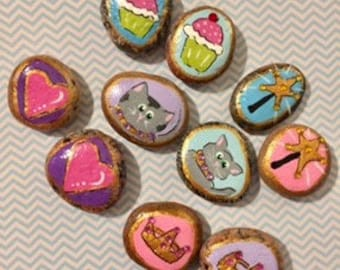 PERSONALIZED story stones - Princess - imagination builder - creativity - HANDPAINTED - make believe