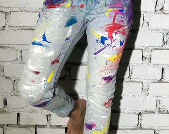 Boyfriend Jeans HandPainted