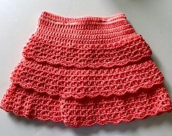 Ruffled Crochet Baby Skirt
